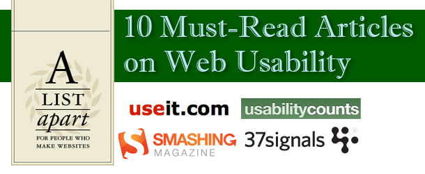 10 Must-Read Articles on Web Usability