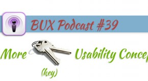 BUX Podcast #39: 10 (More) Key Usability Concepts