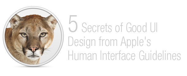 5 Secrets of Good UI Design from Apple&#8217;s Human Interface Guidelines