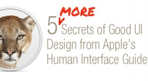 5 MORE Secrets of Good UI Design from Apple's Human Interface Guidelines