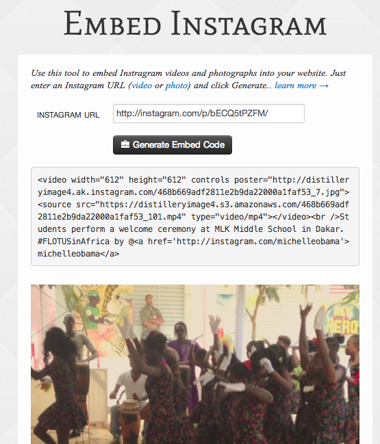 embed instagram video